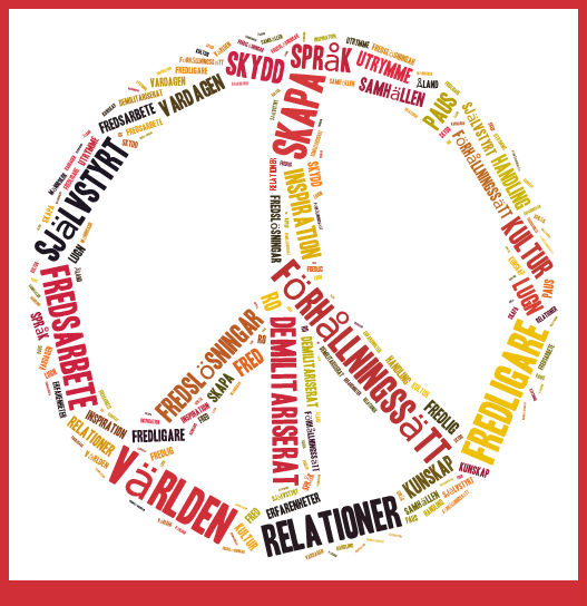 Peace sign words