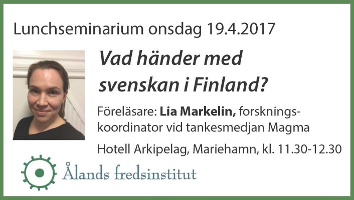 FB3 Lunchseminarium Lia Markelin