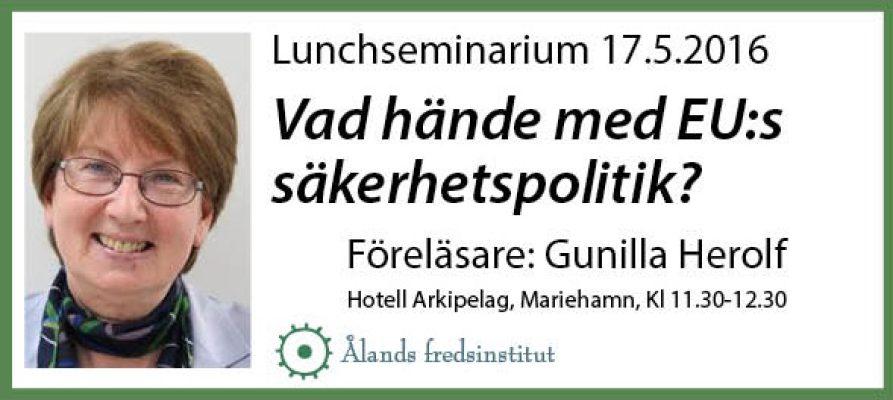 Lunchseminarium Herolf 17.5.2016