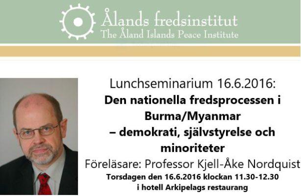 Lunchseminarium Kjell-Åke Nordquist 16.6.2016